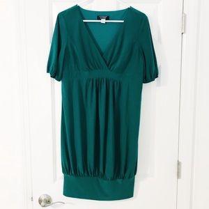 Essentials by ABS green cocktail dress sz XL